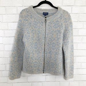Pendleton Zip Up Mohair/Wool/Alpaca Sweater, Small